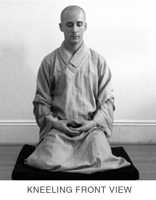 Sitting Meditation - Kneeling Front View