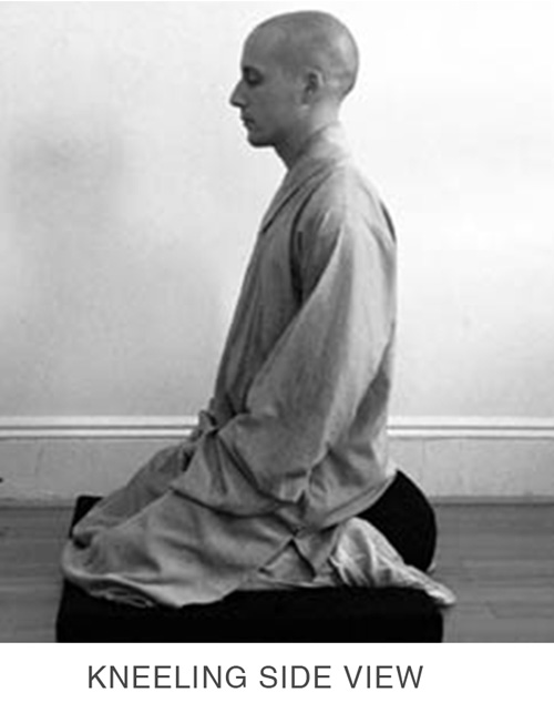 Sitting Meditation - Kneeling Side View