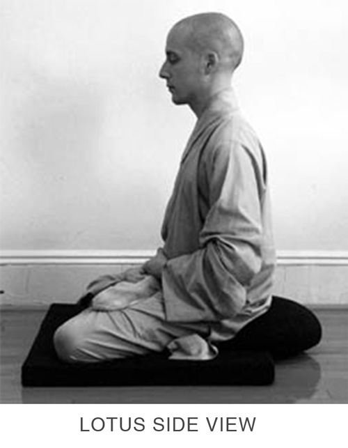 Sitting Meditation - Lotus Side View